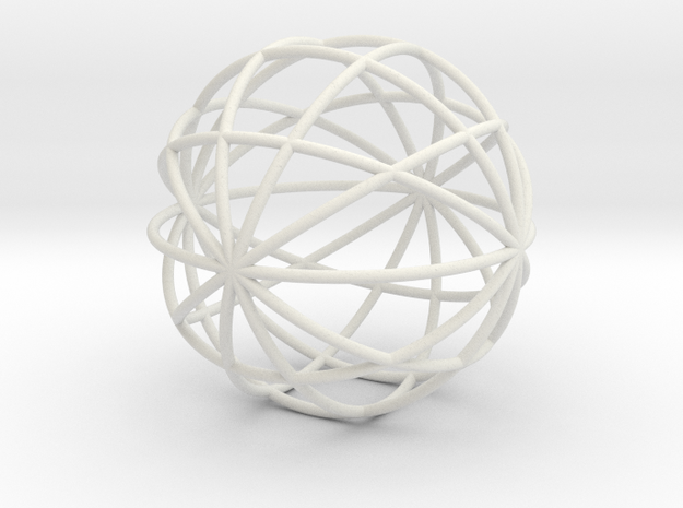 hollow ball 2,5cm 0.8mm strings in White Natural Versatile Plastic