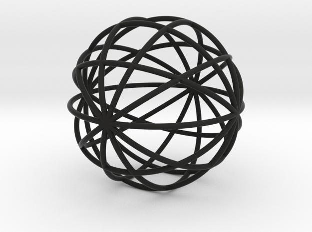 hollow ball 2,5cm 0.8mm strings 3d printed