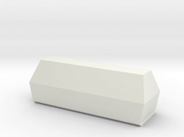 Coffin 1:87 in White Natural Versatile Plastic