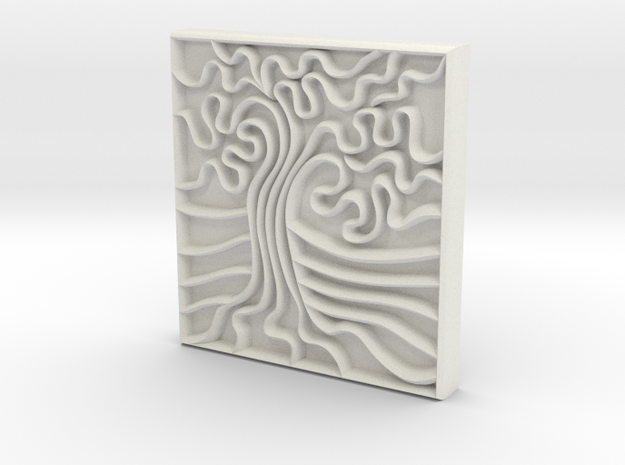 Oak Stamp -25mm v1a 3d printed