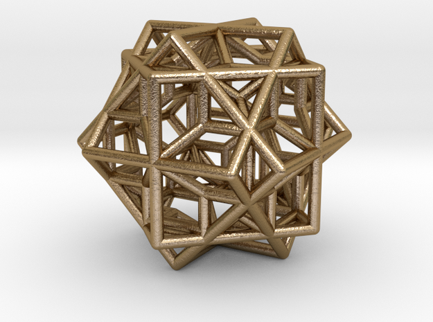 tri cube escher necklace 3d printed