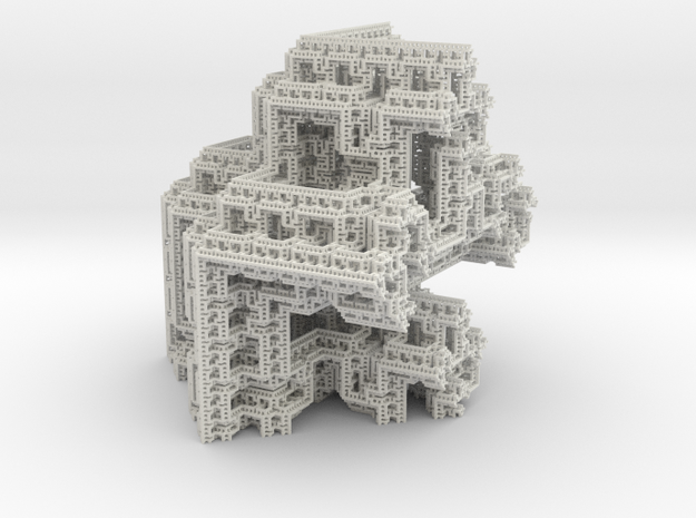 Fractal Graph 3 Level 5 in White Natural Versatile Plastic