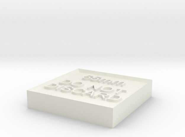 Alignment Block 55mm in White Strong & Flexible