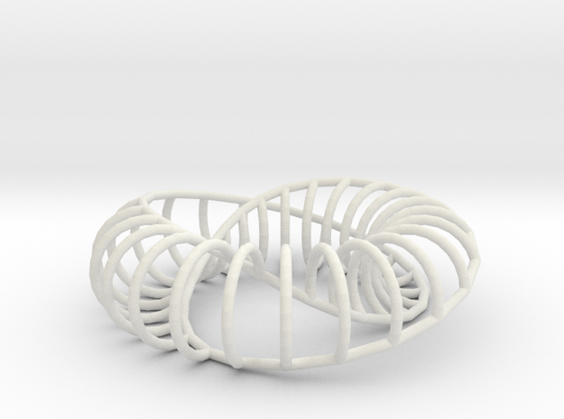 Moebius Arc | Napkin Ring in White Natural Versatile Plastic