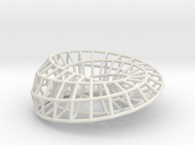 Moebius Ellipse | Napkin Ring in White Natural Versatile Plastic