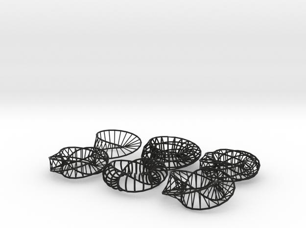 Moebius Napkins - 6 variations 3d printed