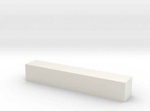 Block 3x3x18 in White Natural Versatile Plastic