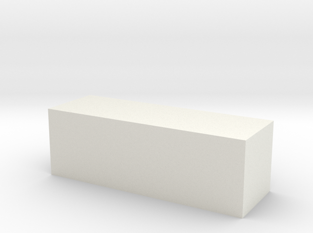 Block 2x2x6 in White Natural Versatile Plastic
