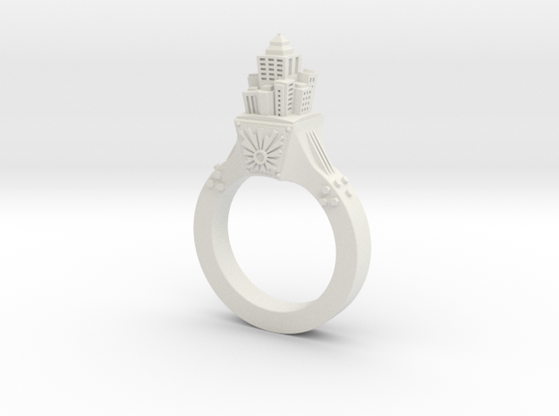 Skyscraper Ring 3d printed
