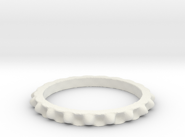 Juliabulb-z^-20-ring in White Natural Versatile Plastic