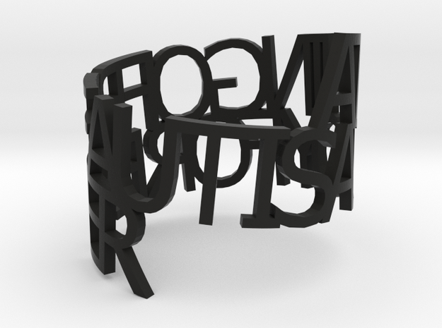 Ring Poem Thing Of Beauty is a Joy 3d printed