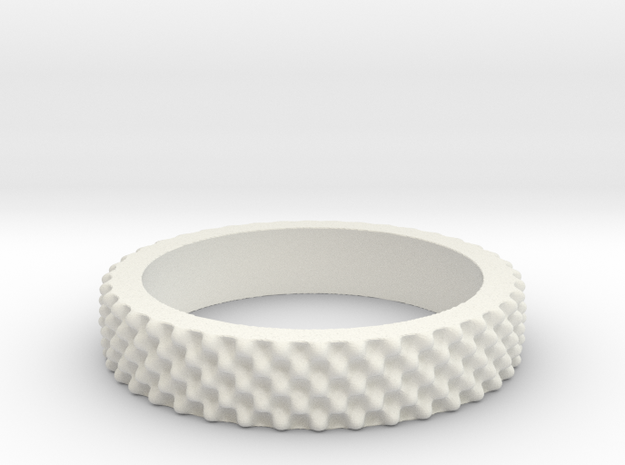 Juliabulb z^-40 ring in White Natural Versatile Plastic