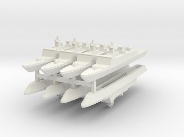 French La Fayette Frigate 1:3000 x8 in White Natural Versatile Plastic