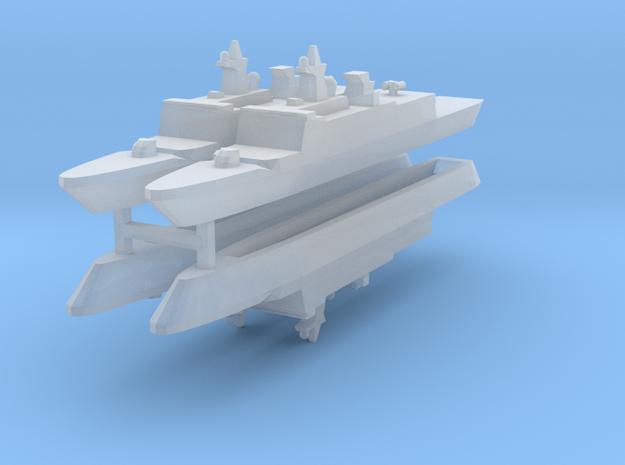 French La Fayette Frigate 1:2400 x4 3d printed