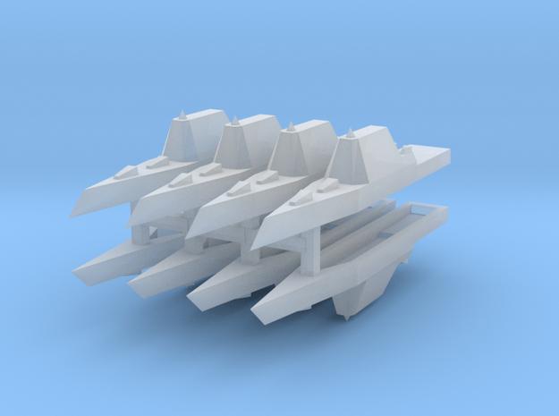 Zumwalt Class Destroyer 1:6000 x8 in Smooth Fine Detail Plastic