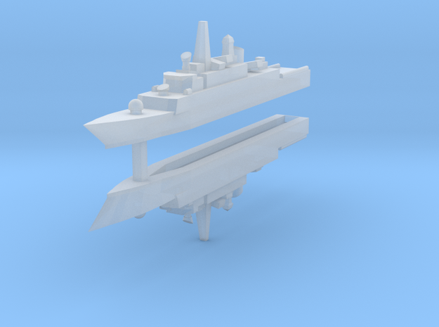 Mowj Frigate 1:2400 x2 in Smooth Fine Detail Plastic