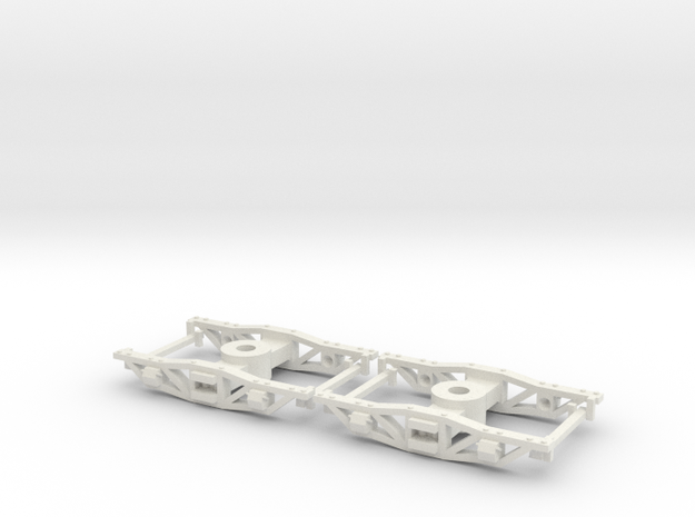 HOn30 logging archbar trucks X2 in White Strong & Flexible