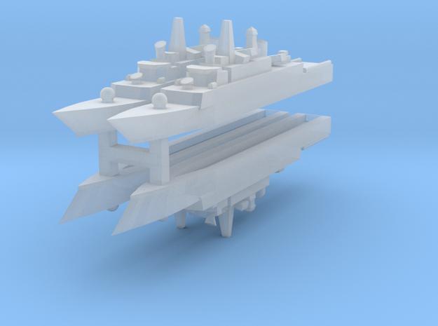 Mowj Frigate 1:3000 x4 in Smooth Fine Detail Plastic