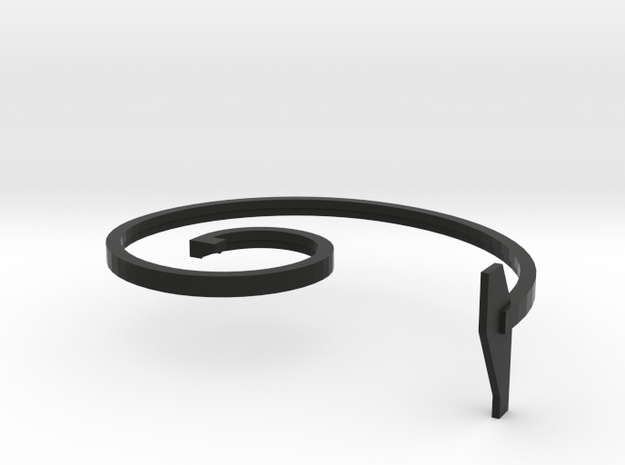 mold part, top,  vehicle spring, 1.5 mm, with text 3d printed