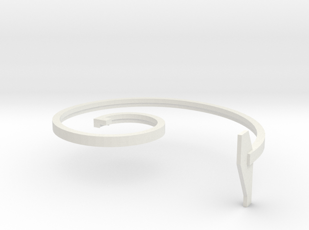 mold part, top,  vehicle spring, 2.0 mm in White Natural Versatile Plastic