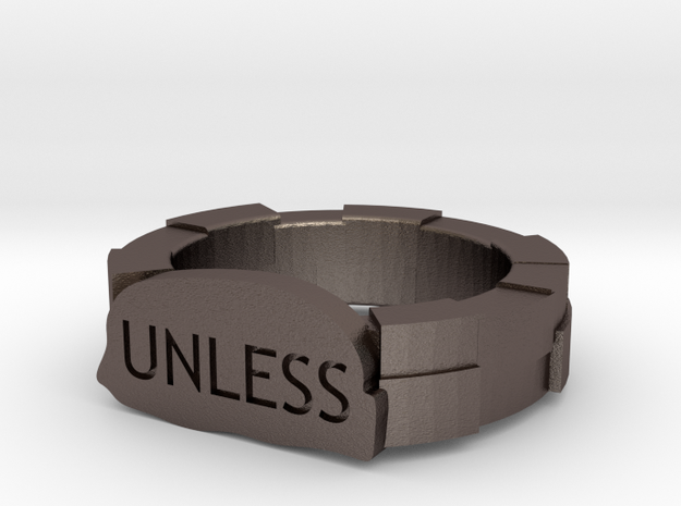 UNLESS Lorax ring in Polished Bronzed Silver Steel