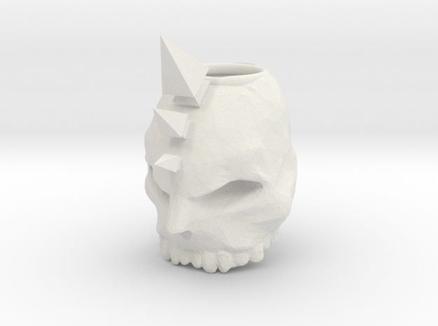 skull ring in White Strong & Flexible