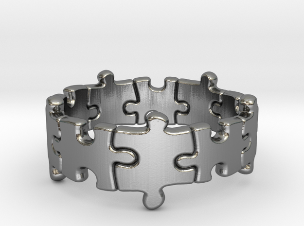 Puzzle Ring 01 size 11 3d printed