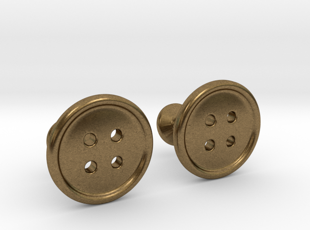 Button Cufflinks 3d printed