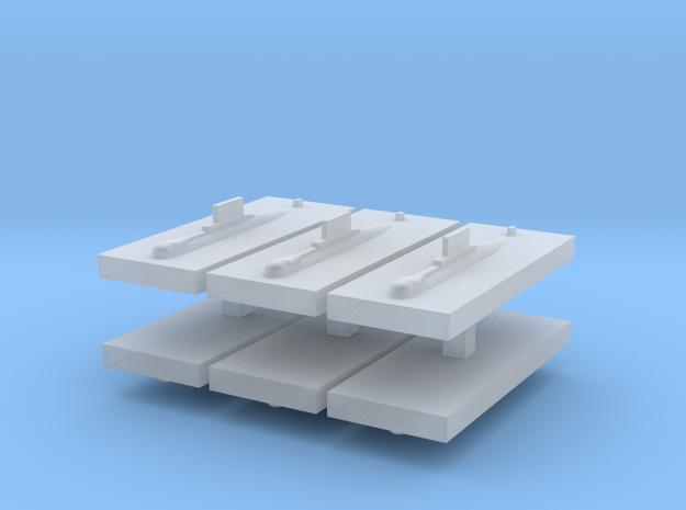 HDW 209/1200 Submarine 1:6000 x6 in Smooth Fine Detail Plastic