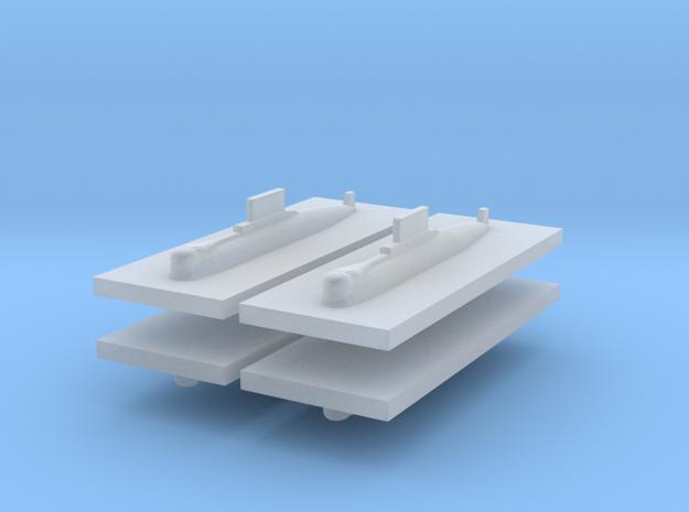 HDW 209/1200 Submarine 1:2400 x4