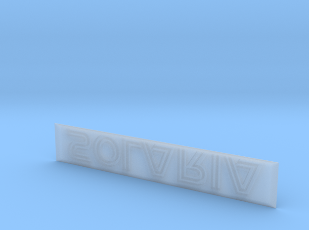 Solaria Nameplate in Smooth Fine Detail Plastic