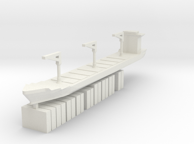 Xiamen Ship w/ Containers 1:3000 3d printed