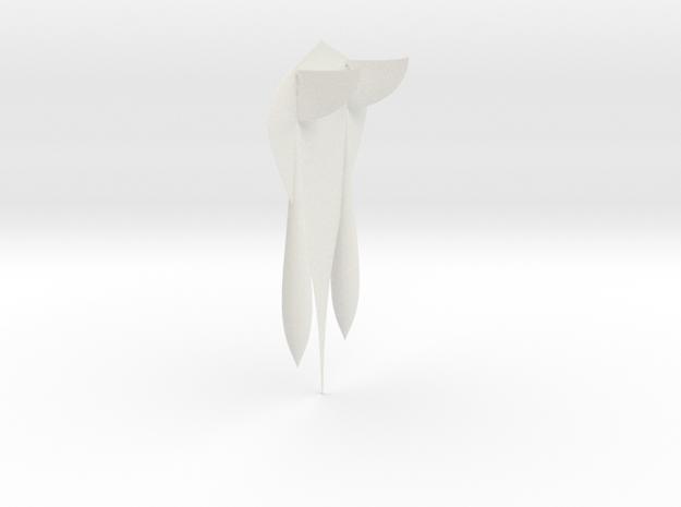 double body airplane model in White Natural Versatile Plastic