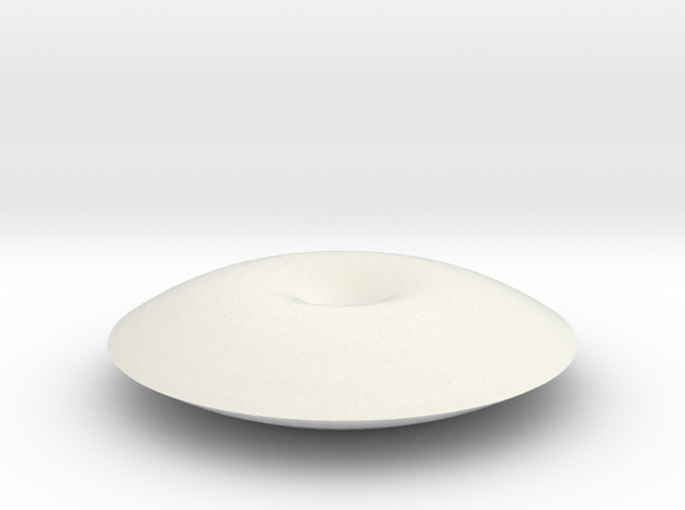 Unduliod disk in White Natural Versatile Plastic