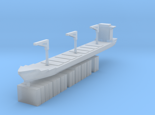 Xiamen Ship w/ Containers 1:2400  in Smooth Fine Detail Plastic