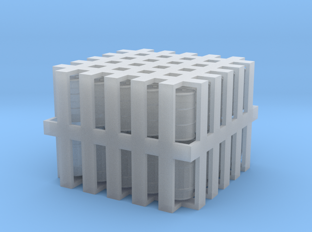 Drums and Barrels - Set of 25 each - Z Scale 3d printed