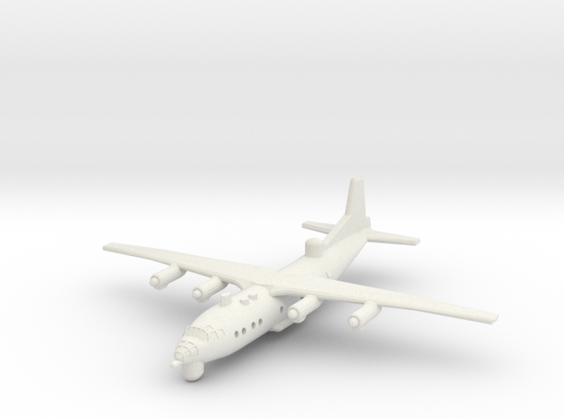 1/300 Antonov AN 12 ECM in White Natural Versatile Plastic