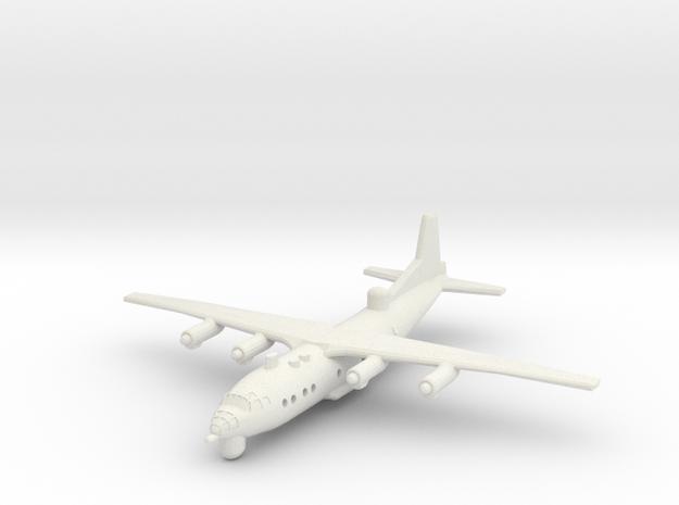1/300 Antonov AN 12 ECM in White Natural Versatile Plastic