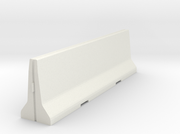 02.001.001_Betonschutzwand New-Jersey-Profil (1/87 in White Natural Versatile Plastic