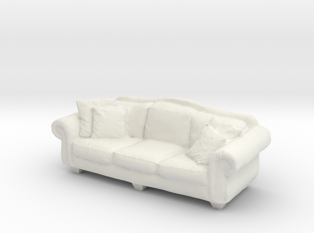 1:24 Sofa in White Natural Versatile Plastic