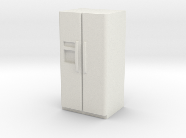 1:24 Side by Side Fridge in White Natural Versatile Plastic