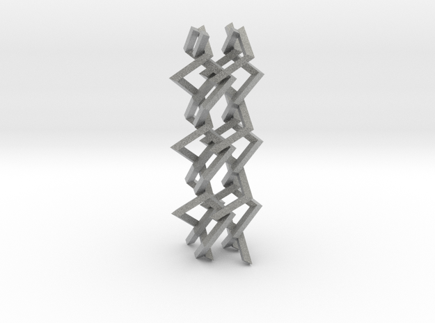 Three-dimensional z3 Chain-link Fence (Large) 3d printed