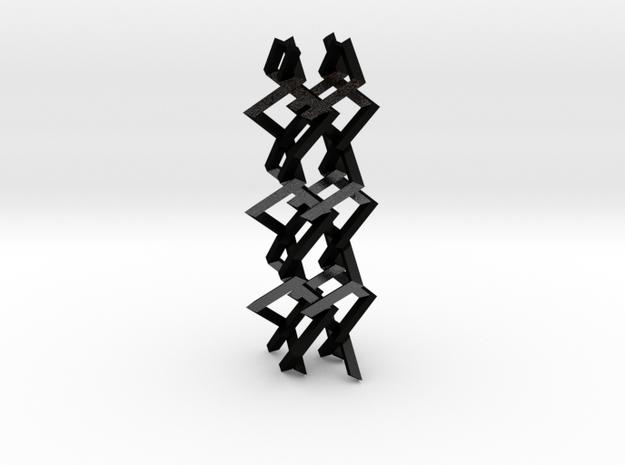 Three-dimensional z3 Chain-link Fence (Medium) 3d printed