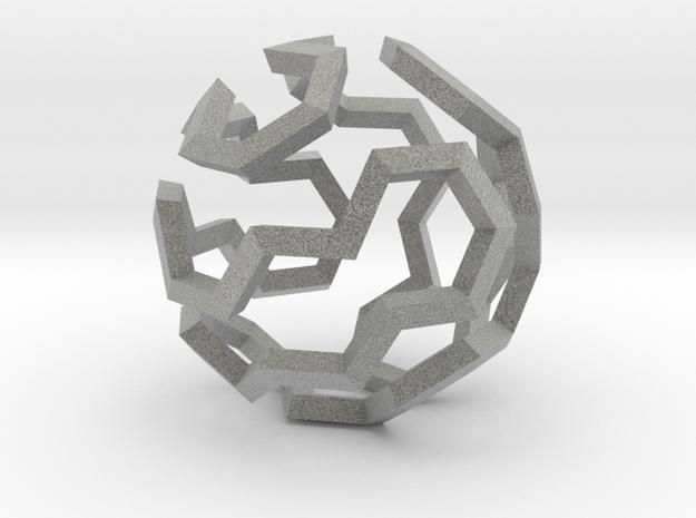 Hamilton Cycle on Soccer Ball (Large) in Metallic Plastic