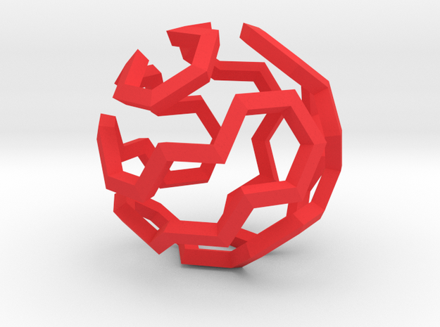 Hamilton Cycle on Soccer Ball (Large) 3d printed