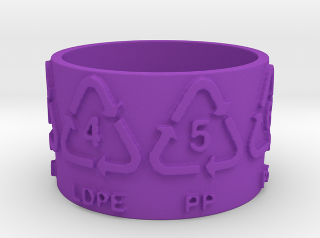 Recycle Codes Ring Size 7.5 3d printed