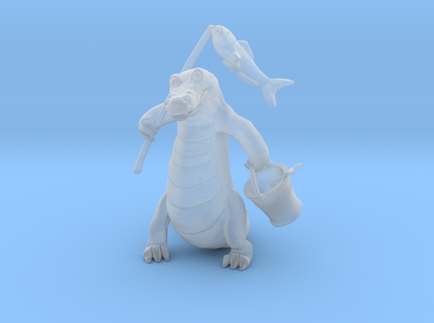 Gator Gone Fishing (color) 3d printed