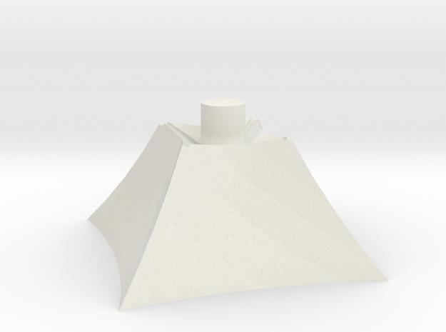 Pyramid_Base in White Natural Versatile Plastic