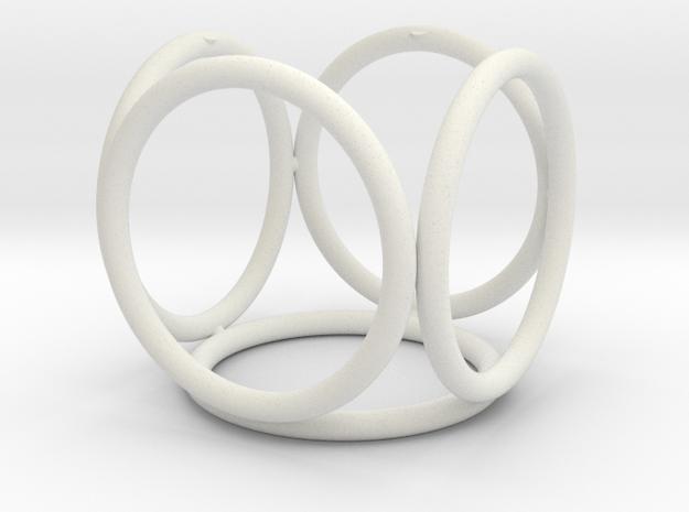 Rings_Five in White Natural Versatile Plastic