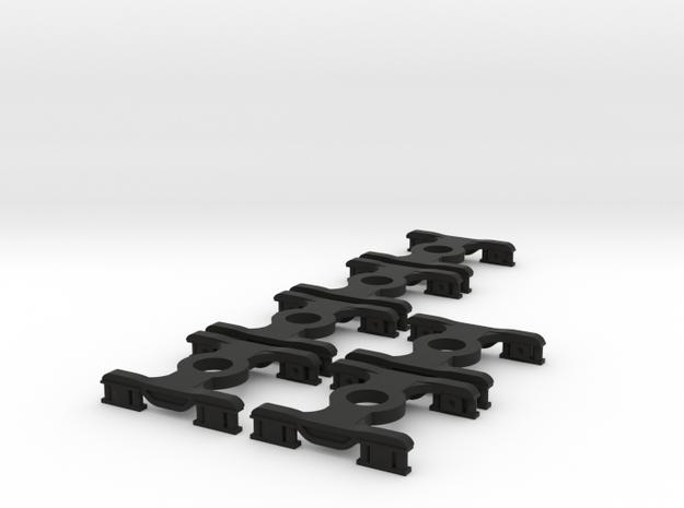 6 * FEA-B/E/F/S Bogies N Gauge 1:148 in Black Natural Versatile Plastic